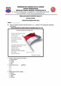 Interactive worksheet PAS Bahasa Sunda