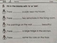 Interactive worksheet My House 1