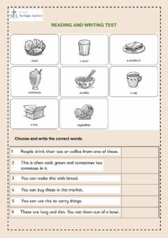 Ficha interactiva Reading and writing test