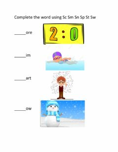 Interactive worksheet Blend with S