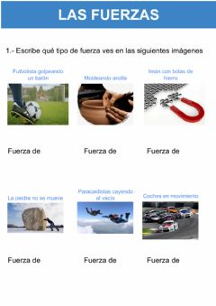 Interactive worksheet Tipos de fuerza