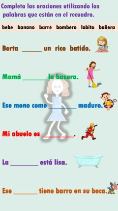 Interactive worksheet Completa las oraciones