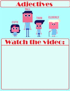 Ficha interactiva Introduction to Adjectives Video