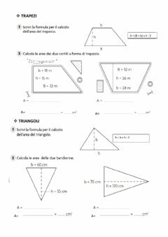Interactive worksheet Area Trapezio e Triangolo