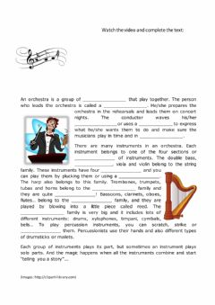 Interactive worksheet Meet the Orchestra