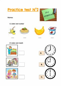 Interactive worksheet Practice test N°2