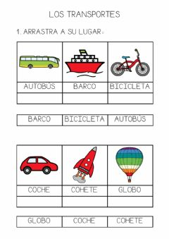 Interactive worksheet Lectura global. Los transportes.