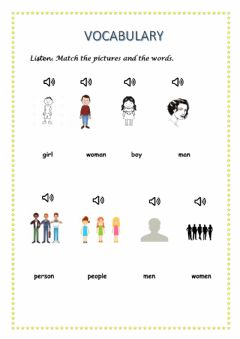 Interactive worksheet Vocabulary: people