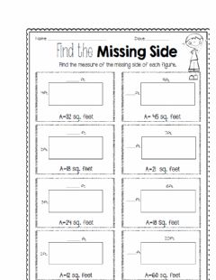 Ficha interactiva Find the missing side