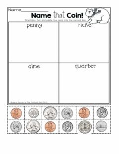 Interactive worksheet Money Sorting