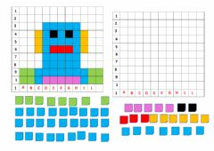 Interactive worksheet Pixel robot
