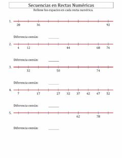 Interactive worksheet Rectas Numéricas