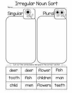 Interactive worksheet Plural Nouns Sorting