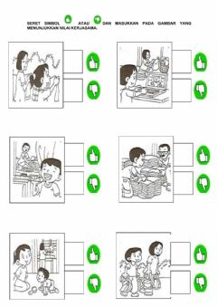 Interactive worksheet Pendidikan moral-unit 12: kerjasama