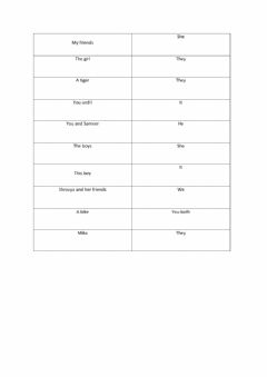 Interactive worksheet Pronouns