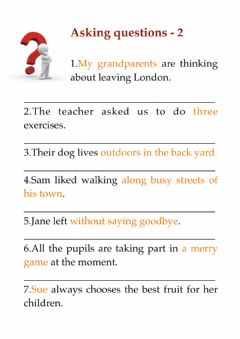 Interactive worksheet Asking questions