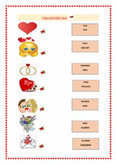 Interactive worksheet Valentinstag