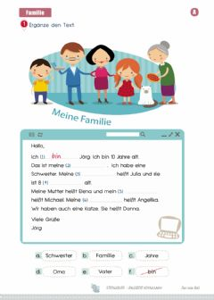 Interactive worksheet Meine Familie