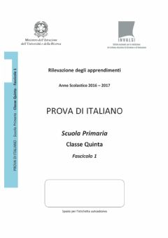 Interactive worksheet Italiano invalsi 2016-2017 5- - 1