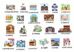 Ficha interactiva Vocabulary about town