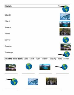 Interactive worksheet Earth (water1)