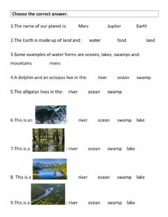 Interactive worksheet Earth (water2)
