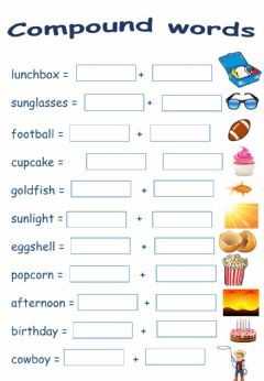 Ficha interactiva Compound words