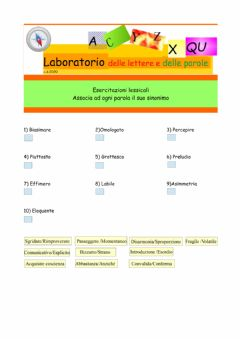 Interactive worksheet Lessico avanzato 1.0