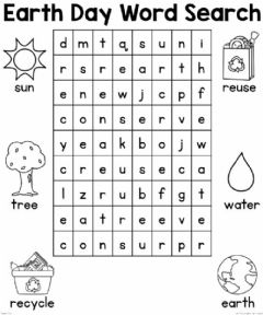 Interactive worksheet Earth day word search