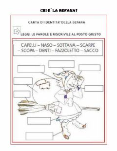 Interactive worksheet Befana