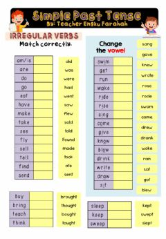Interactive worksheet Simple Past Tense (Irreglar Verbs)