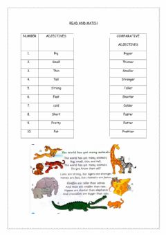 Interactive worksheet Get smarts 3 (comparative adjectives)