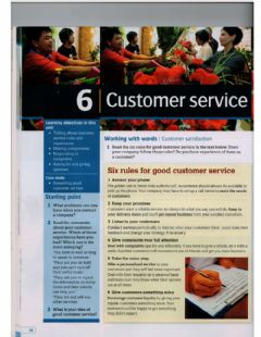 Interactive worksheet Rules for customer service