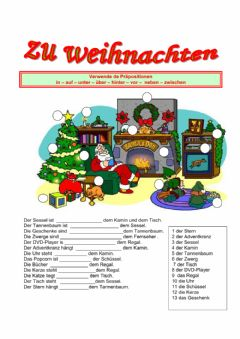 Interactive worksheet Weihnachten Bold