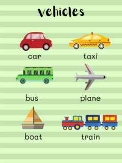 Interactive worksheet Vehicles - Mouse and Me