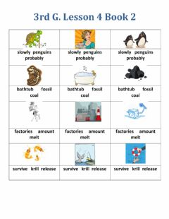 Interactive worksheet Phonology Lesson 4 Book 2