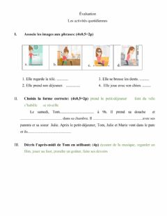 Interactive worksheet Évaluation, 7e
