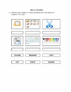 Interactive worksheet Identify the tools