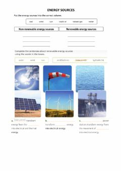 Ficha interactiva Energy sources