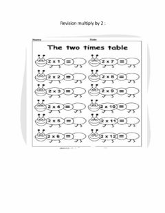 Interactive worksheet Multiply by 2