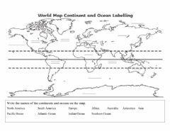 Interactive worksheet Name the continents and Oceans