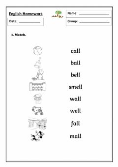 Interactive worksheet Lesson 20 - ll sound