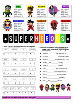 Interactive worksheet EP5 RM ENG U2 Comparative And Superlative Adjectives