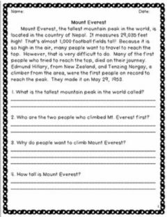Interactive worksheet Exercise -1 (LIVEWORKSHEETS)- Reading Comprehension with open-ended questions