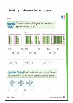 Interactive worksheet Envision 9-4 Independent Practice