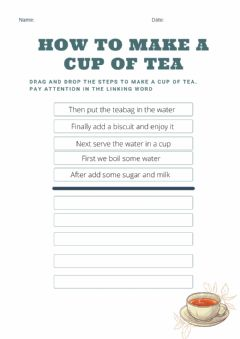 Interactive worksheet Making a cup of tea