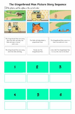 Interactive worksheet Gingerbread man story sequence