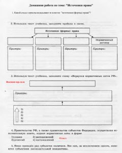 Interactive worksheet Источники права