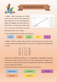 Interactive worksheet Revisão Enem 2 Ano
