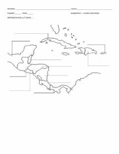 Interactive worksheet Central America and the Caribbean EASY